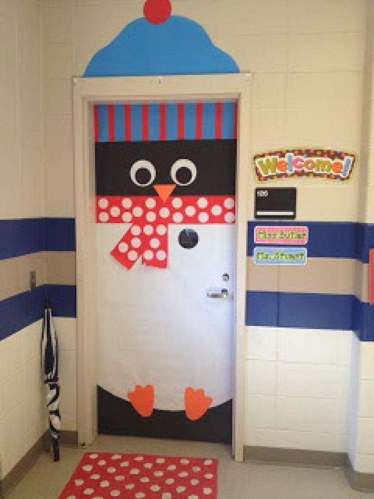 Decoration de noel porte de classe