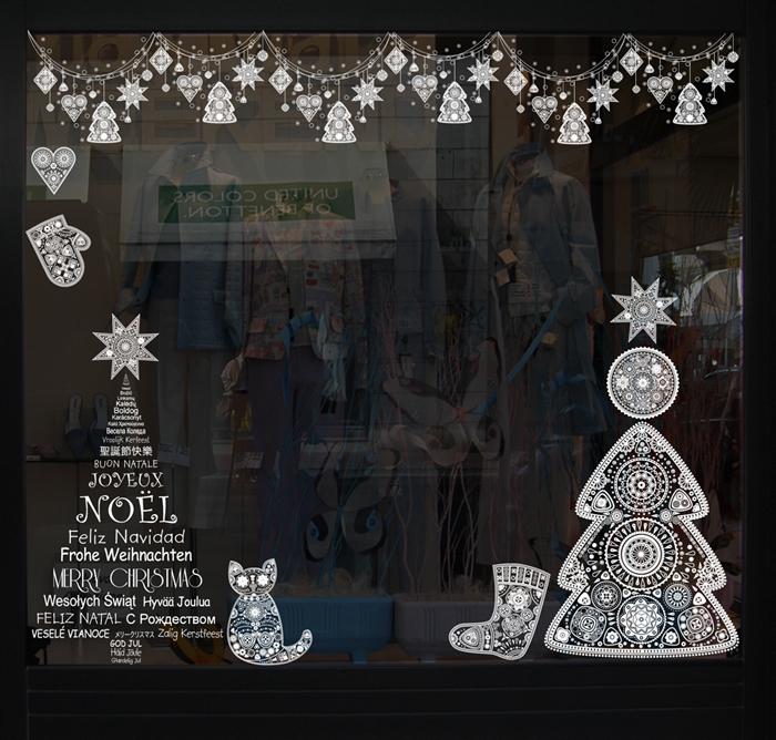 Decoration de noel sur les vitres noel decoration Decoration de noel pour fenetre