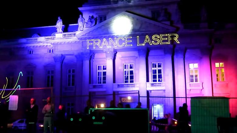 Laser projection facade noel decoration for Laser facade noel
