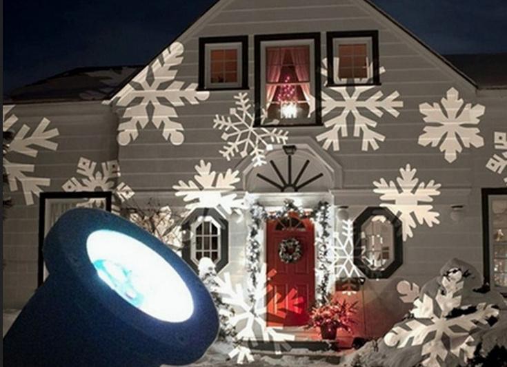 Projecteur laser blanc exterieur noel noel decoration - Laser facade noel ...
