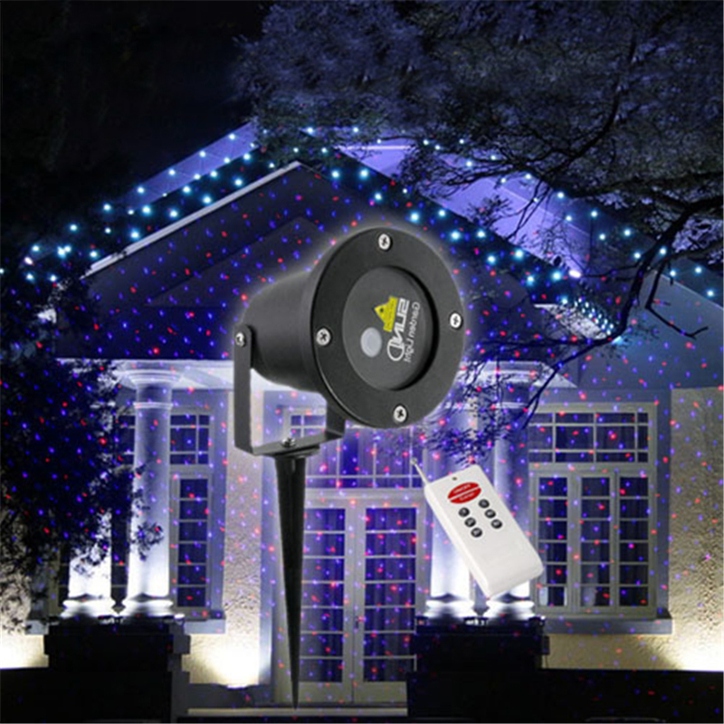 projection laser maison noel decoration