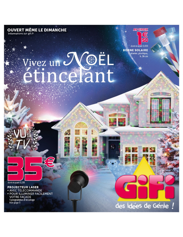 Decoration Noel Exterieur Magasin Sapin Gifi