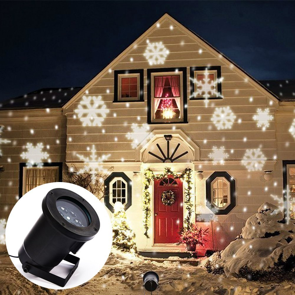 Lumiere led exterieur noel noel decoration for Projecteur sur maison pour noel